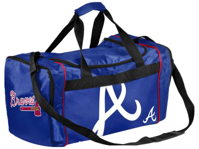 Atlanta Braves Striped Core Duffle Bag