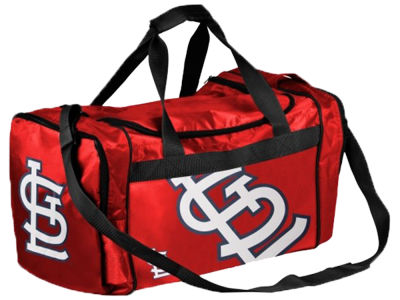St. Louis Cardinals Striped Core Duffle Bag