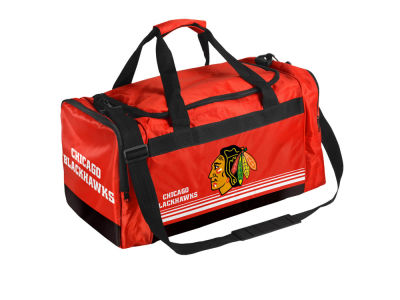 Chicago Blackhawks Striped Core Duffle Bag