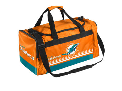 Miami Dolphins Striped Core Duffle Bag