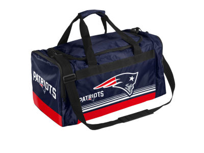 New England Patriots Striped Core Duffle Bag