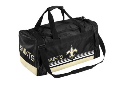 New Orleans Saints Striped Core Duffle Bag