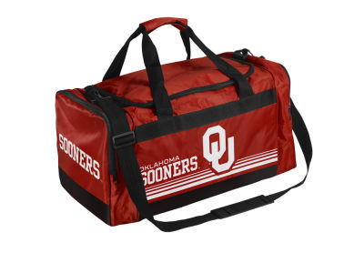 Oklahoma Sooners Striped Core Duffle Bag