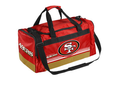 San Francisco 49ers Striped Core Duffle Bag