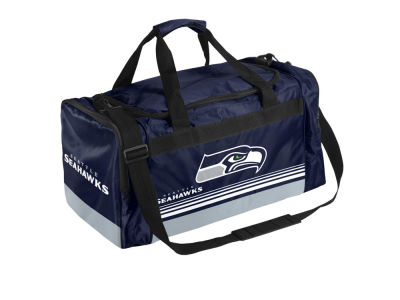 Seattle Seahawks Striped Core Duffle Bag