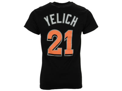Miami Marlins Christian Yelich Majestic MLB Men's Official Player T-Shirt