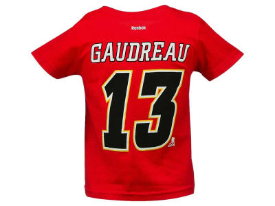 Calgary Flames Johnny Gaudreau Reebok NHL CN Toddler Player T-Shirt