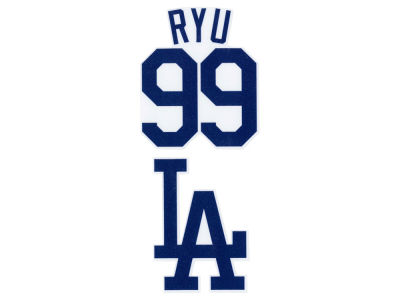 Los Angeles Dodgers Hyun-Jin Ryu 2-pack 4x4 Die Cut Decal