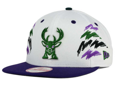 Milwaukee Bucks New Era NBA HWC Old Cool 9FIFTY Snapback Cap