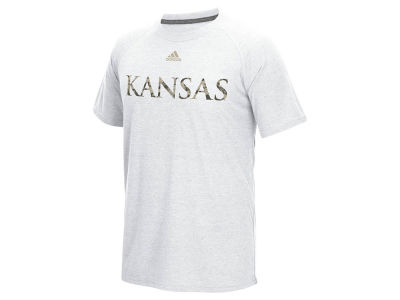Kansas Jayhawks adidas NCAA Men's Veterans Day Freak Camo Logo T-Shirt