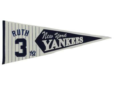 New York Yankees Babe Ruth Legend Player Pennant