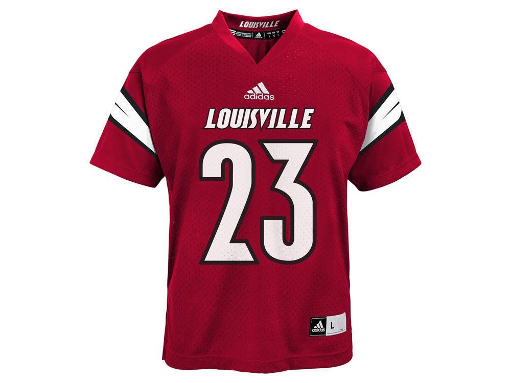 Louisville Cardinals adidas NCAA Youth Replica Football Jersey ... 62e6a8df0