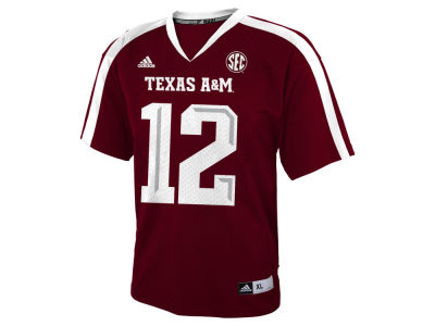 Texas A&M Aggies #12 adidas NCAA Kids Replica Football Jersey Adidas