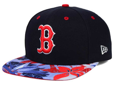 Boston Red Sox New Era MLB Floral Viz 9FIFTY Snapback Cap