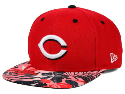 Cincinnati Reds New Era MLB Floral Viz 9FIFTY Snapback Cap