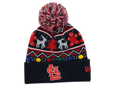 St. Louis Cardinals New Era MLB Ugly Sweater Pom Knit
