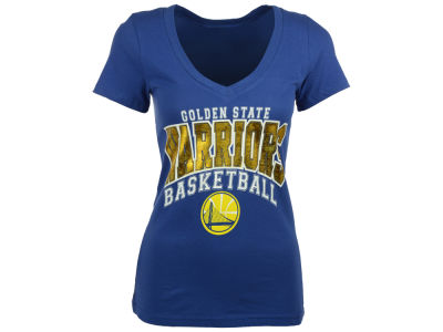 Golden State Warriors 5th & Ocean NBA Women's Foil Basketball T-Shirt