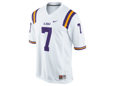 LSU Tigers #15 Nike NCAA Replica Football Game Jersey