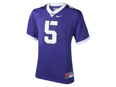 Texas Christian Horned Frogs #5 Nike NCAA Youth Replica Football Game Jersey