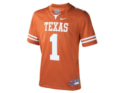 Texas Longhorns #1 Nike NCAA Youth Replica Football Game Jersey