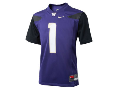 Washington Huskies #1 Nike NCAA Youth Replica Football Game Jersey