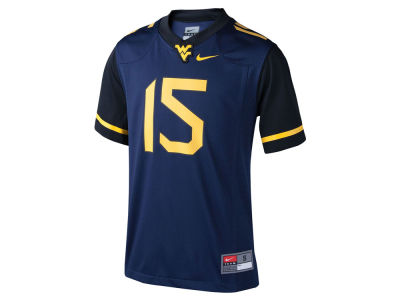 West Virginia Mountaineers #15 Nike NCAA Youth Replica Football Game Jersey