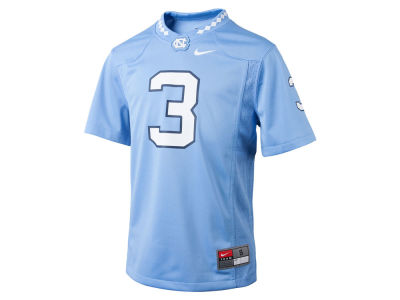 North Carolina Tar Heels #3 Nike NCAA Youth Replica Football Game Jersey