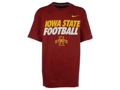 Iowa State Cyclones Nike NCAA Youth Football Cotton Practice T-Shirt