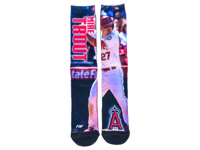 Los Angeles Angels Mike Trout Mega Flag Player Socks