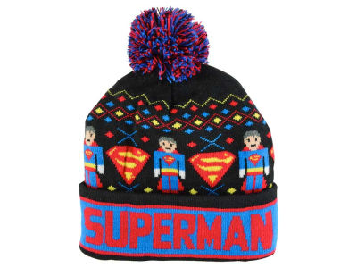 Superman DC Comics Youth Intarsia Cuffed Knit