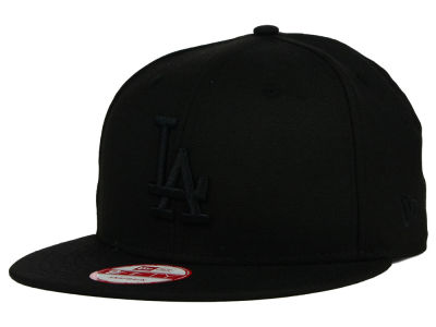 Los Angeles Dodgers New Era MLB Black on Black 9FIFTY Snapback Cap
