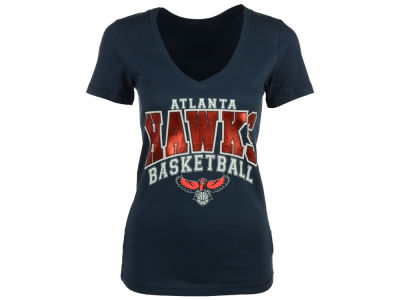 Atlanta Hawks 5th & Ocean NBA Women's Foil Basketball T-Shirt