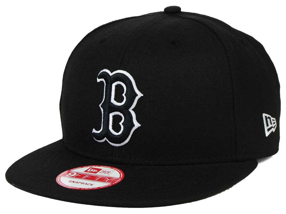 Boston Red Sox New Era MLB Black White 9FIFTY Snapback Cap  a46b016140b4