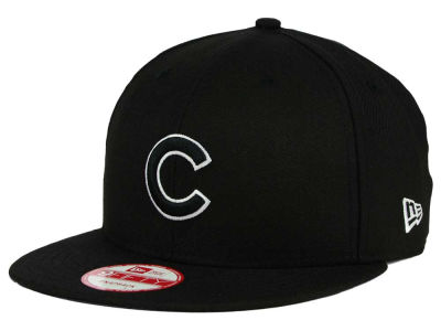 Chicago Cubs New Era MLB Black White 9FIFTY Snapback Cap