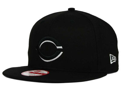 Cincinnati Reds New Era MLB Black White 9FIFTY Snapback Cap