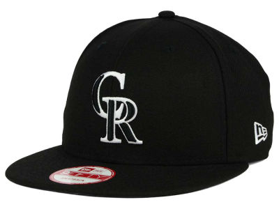 Colorado Rockies New Era MLB Black White 9FIFTY Snapback Cap