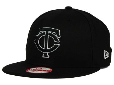 Minnesota Twins New Era MLB Black White 9FIFTY Snapback Cap