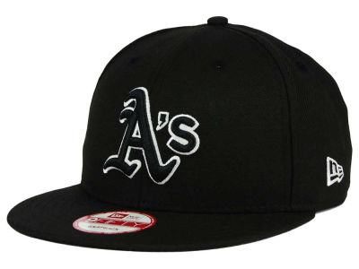 Oakland Athletics New Era MLB Black White 9FIFTY Snapback Cap