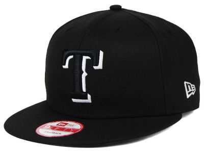 Texas Rangers New Era MLB Black White 9FIFTY Snapback Cap