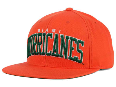 Miami Hurricanes NCAA Starter Solid Arch Hat