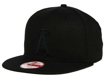 Los Angeles Angels New Era MLB Black on Black 9FIFTY Snapback Cap