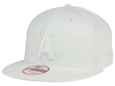 Los Angeles Angels New Era MLB White on White 9FIFTY Snapback Cap