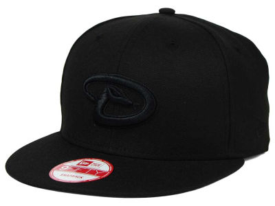 Arizona Diamondbacks New Era MLB Black on Black 9FIFTY Snapback Cap