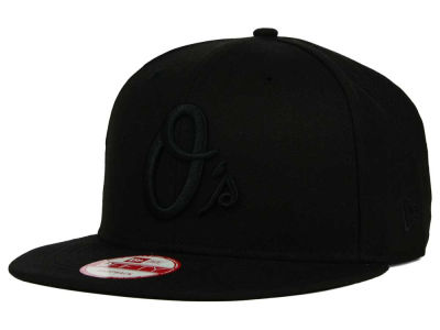 Baltimore Orioles New Era MLB Black on Black 9FIFTY Snapback Cap