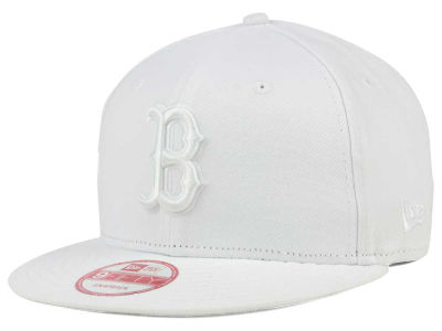 Boston Red Sox New Era MLB White on White 9FIFTY Snapback Cap