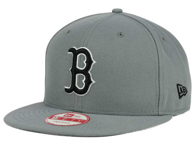 Boston Red Sox New Era MLB Gray Black White 9FIFTY Snapback Cap
