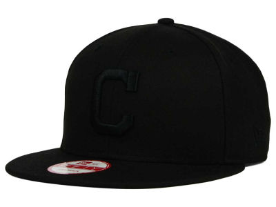 Cleveland Indians New Era MLB Black on Black 9FIFTY Snapback Cap