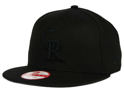 Colorado Rockies New Era MLB Black on Black 9FIFTY Snapback Cap