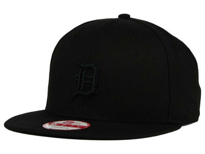 Detroit Tigers New Era MLB Black on Black 9FIFTY Snapback Cap