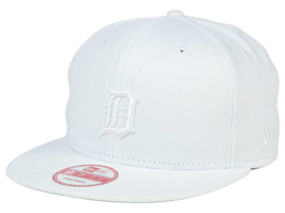Detroit Tigers New Era MLB White on White 9FIFTY Snapback Cap